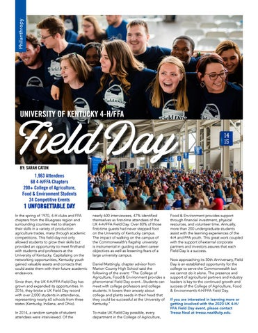 Page 18 of Philanthropy - 4-H/FFA Field Day