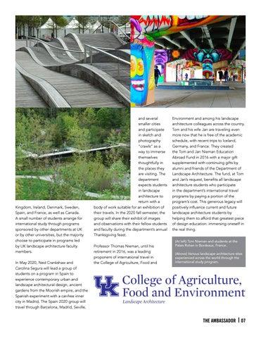 Page 7 of Department Spotlight - Landscape Architecture