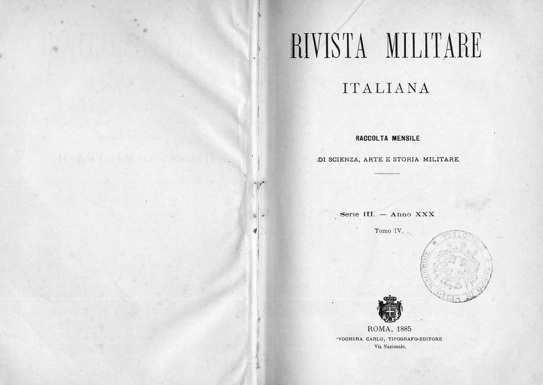 Rivista Militare 1885 Tomo Iv By Biblioteca Militare Issuu