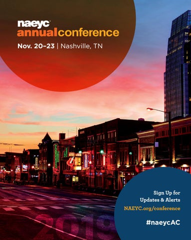 Naeyc 2019 Annual Conference Program By Naeyc Issuu