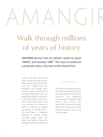 Page 10 of AMANGIRI - Walk through millions of years of history