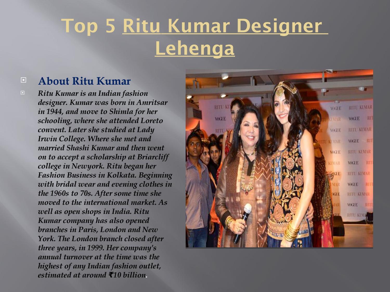 Top 5 Ritu Kumar Designer Lehenga By Rocky Yng Issuu