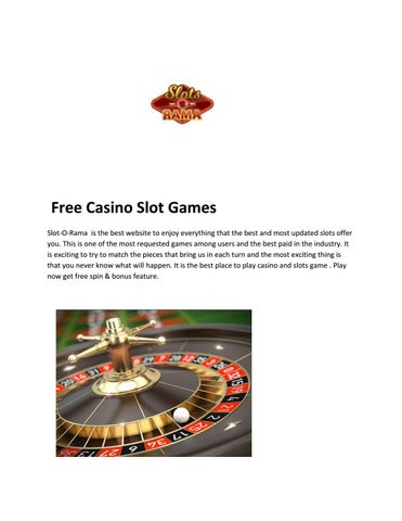 Online Free Casino Slot Games Slots O Rama By Slots O Rama Issuu