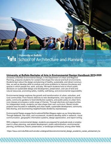 Ub Graduation 2020.University At Buffalo Environmental Design Academic Career