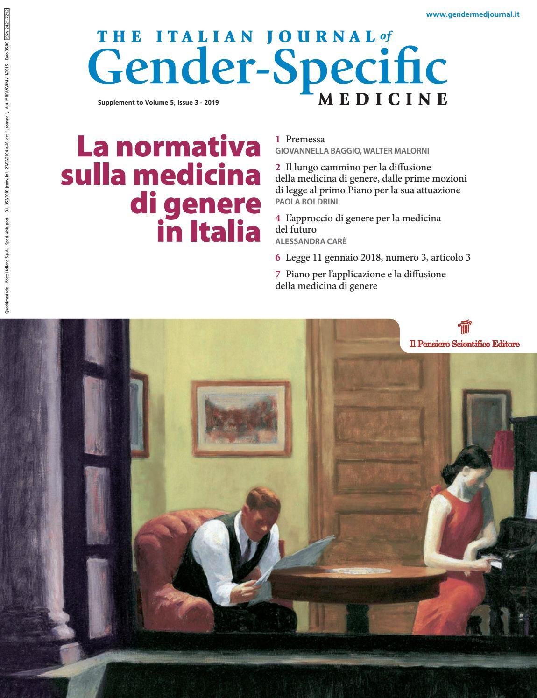 La Normativa Sulla Medicina Di Genere In Italia By Il Pensiero Scientifico Editore Issuu