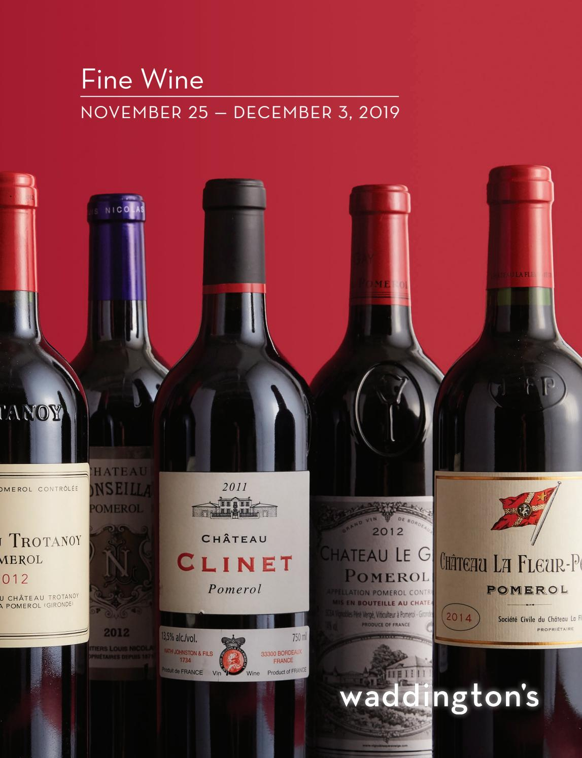 Fine Wine Auction Nov 25 December 3 By Waddingtons Issuu