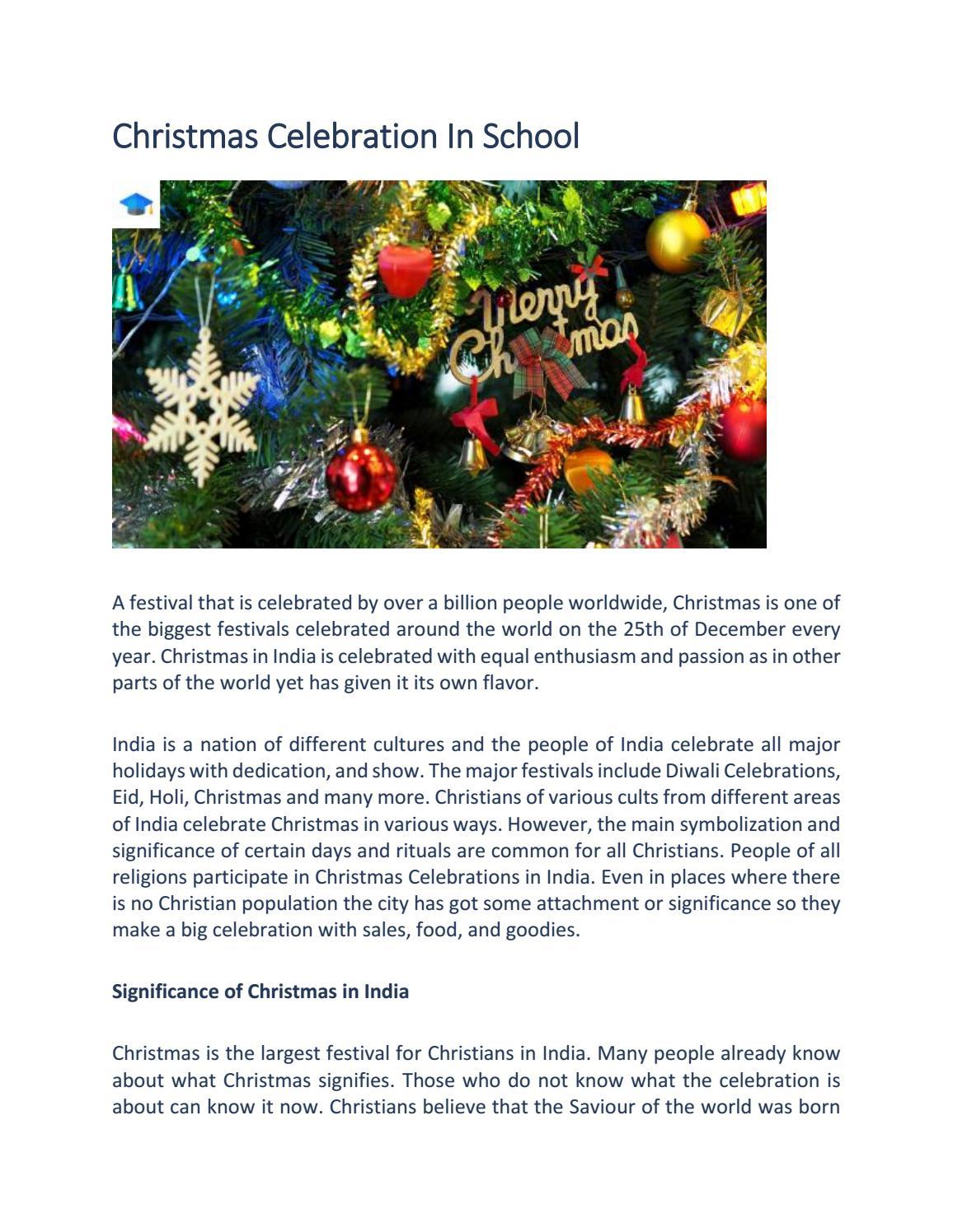 Christmas Celebration In School By Myschoolr Issuu