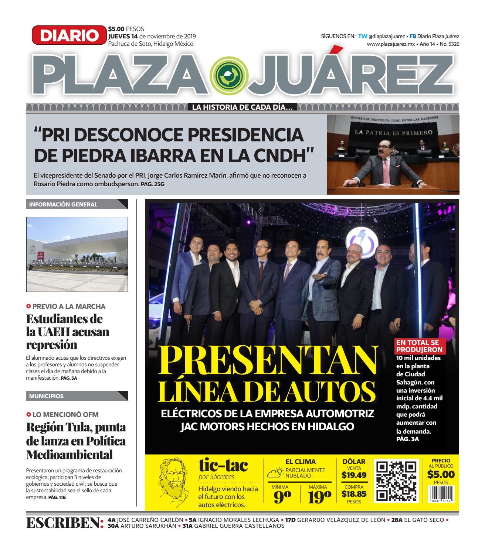 14 11 19 By Diario Plaza Juárez Issuu