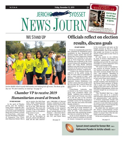 Pier 1 Fortune Teller Halloween Forum 2020 Jericho Syosset News Jorunal (11/15/19) by Litmor Publishing   issuu