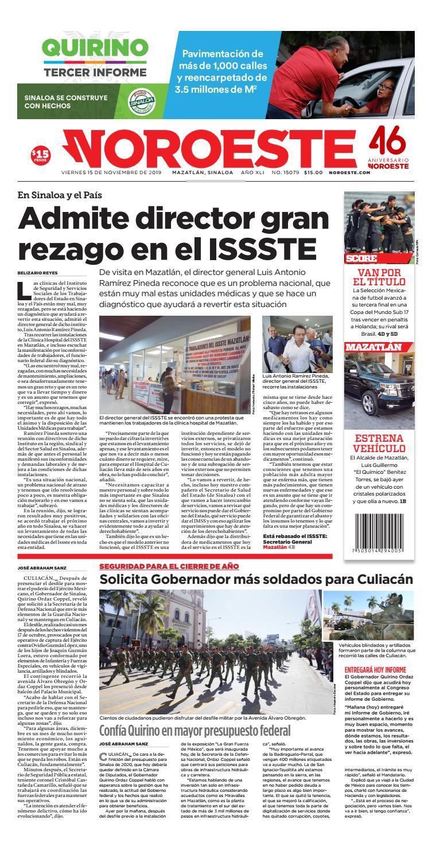 MAZATLÁN 151119 by Noroeste - issuu