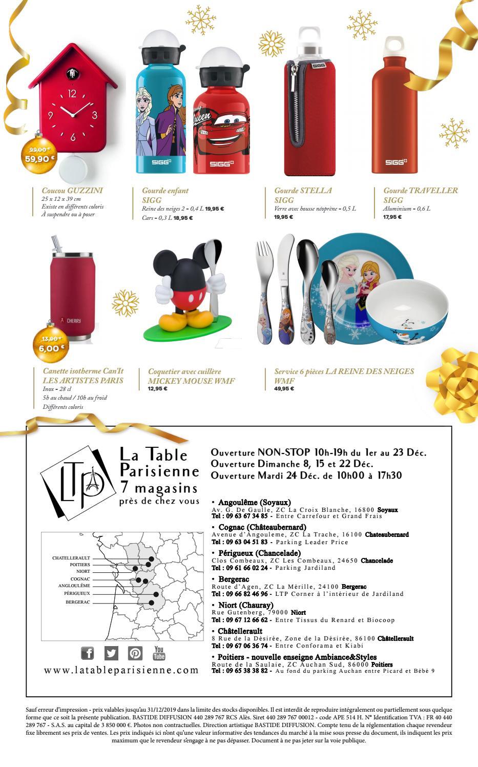 Catalogue Noel 2019 La Table Parisienne Vebuka Com