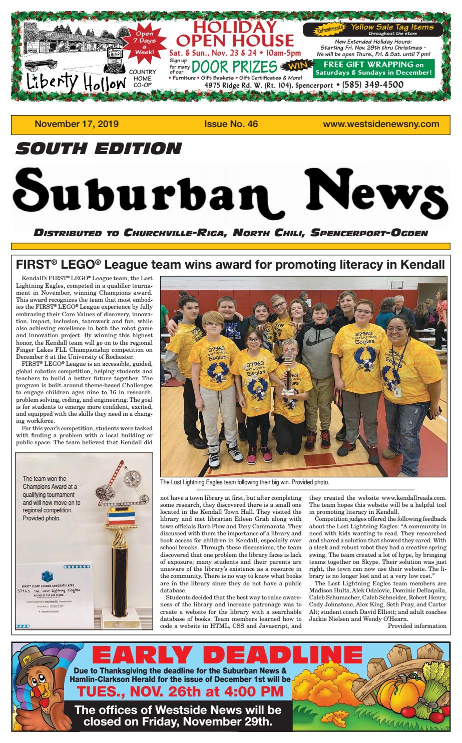 Suburban News South Edition November 17 2019 By Westside