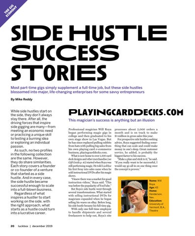 Page 24 of siDe HusTlE SucCesS sToriEs