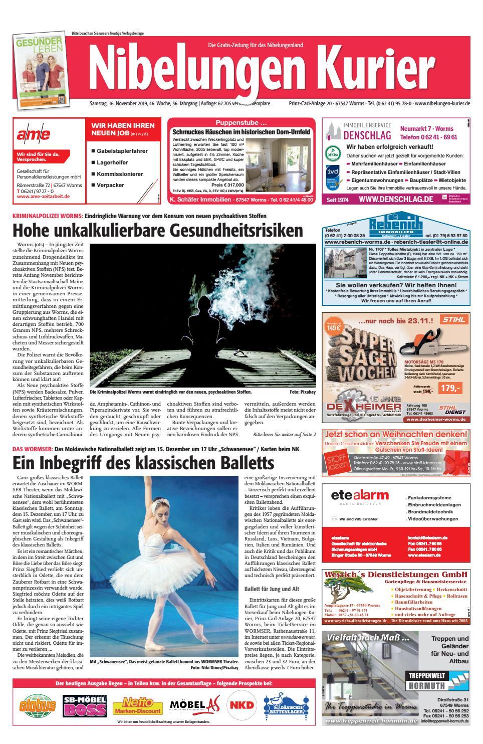 Samstag 16 November 2019 46 Woche By Nibelungen Kurier Issuu