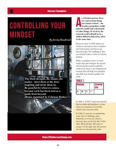Page 22 of Controlling Your Mindset
