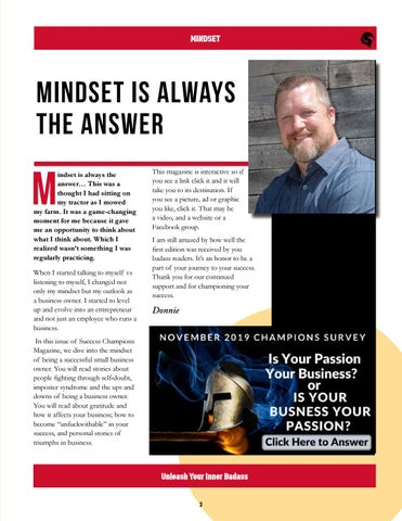Page 3 of Mindset is Always the Answer