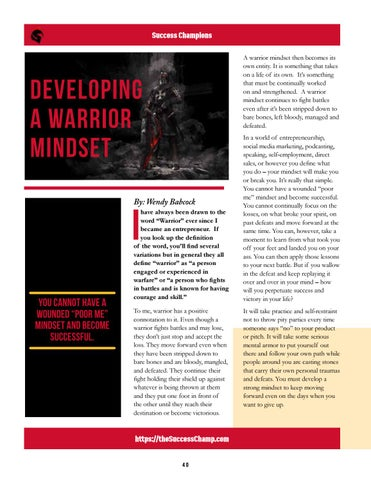 Page 40 of Developing a Warrior Mindset