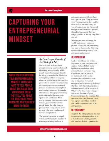 Page 8 of Capturing Your Entrepreneurial Mindset