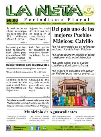 Periódico Semanal De Aguascalientes Y Colima Edición 1180