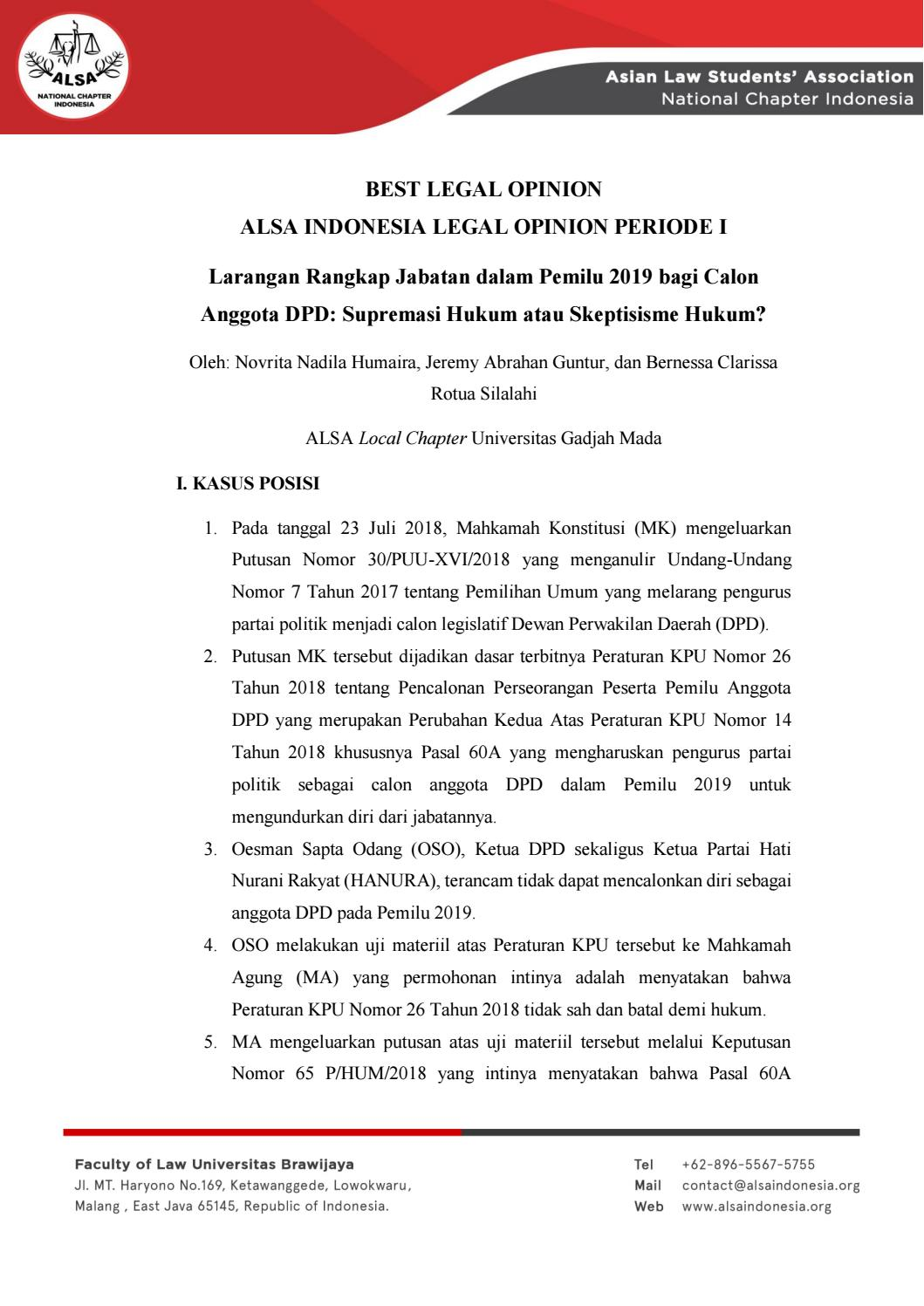 Best Legal Opinion Alsa Indonesia Legal Opinion 1 By Alsa Indonesia Issuu
