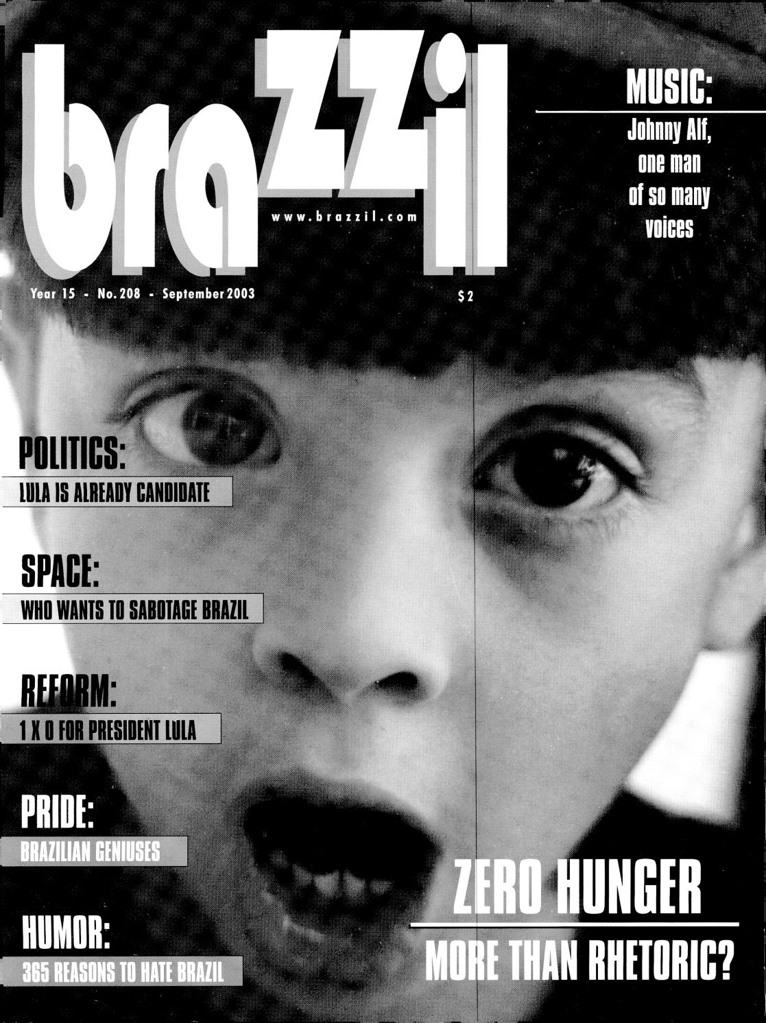 Brazzil Year 15 Number 208 September 2003 By Brazzil Magazine Issuu