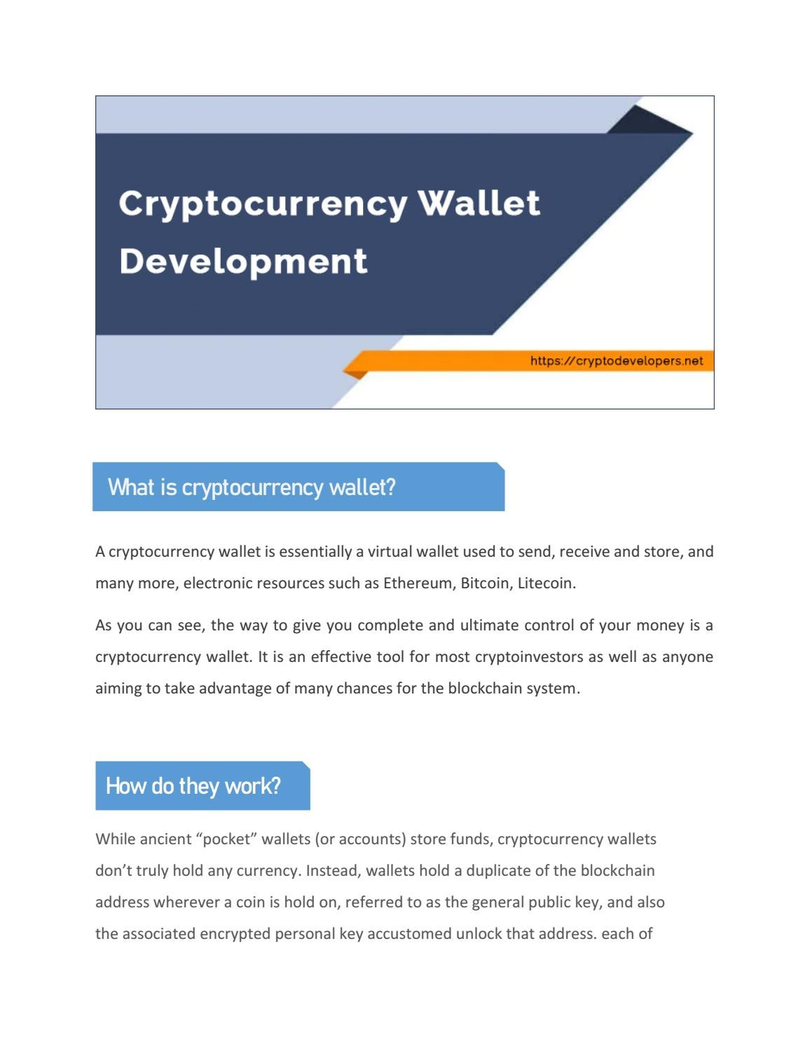 personal wallet cryptocurrency