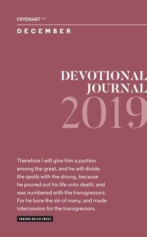 December Devotional Jornal 2019 by Covenant EFC - issuu