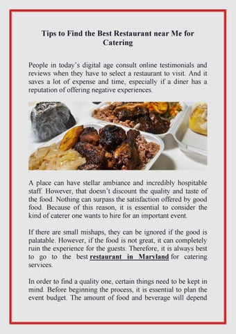 Tips To Find The Best Restaurant Near Me For Catering By Jerk N Jive Caribbean Kitchen Issuu