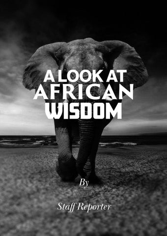 Page 20 of A LOOK AT AFRICAN WISDOM