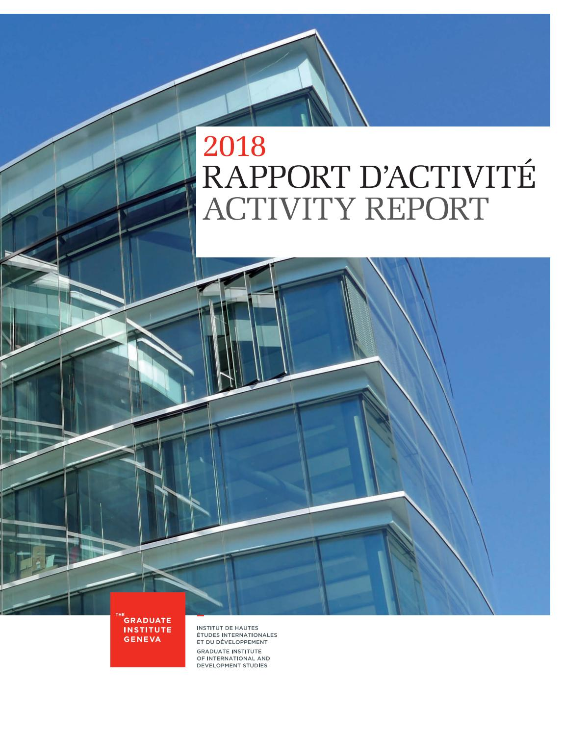 Rapport D Activite I Activity Report 2018 By The Graduate
