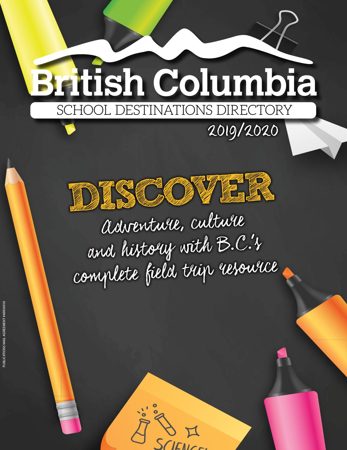 819 432 3737 >> British Columbia School Destinations Directory 2019 2020 By