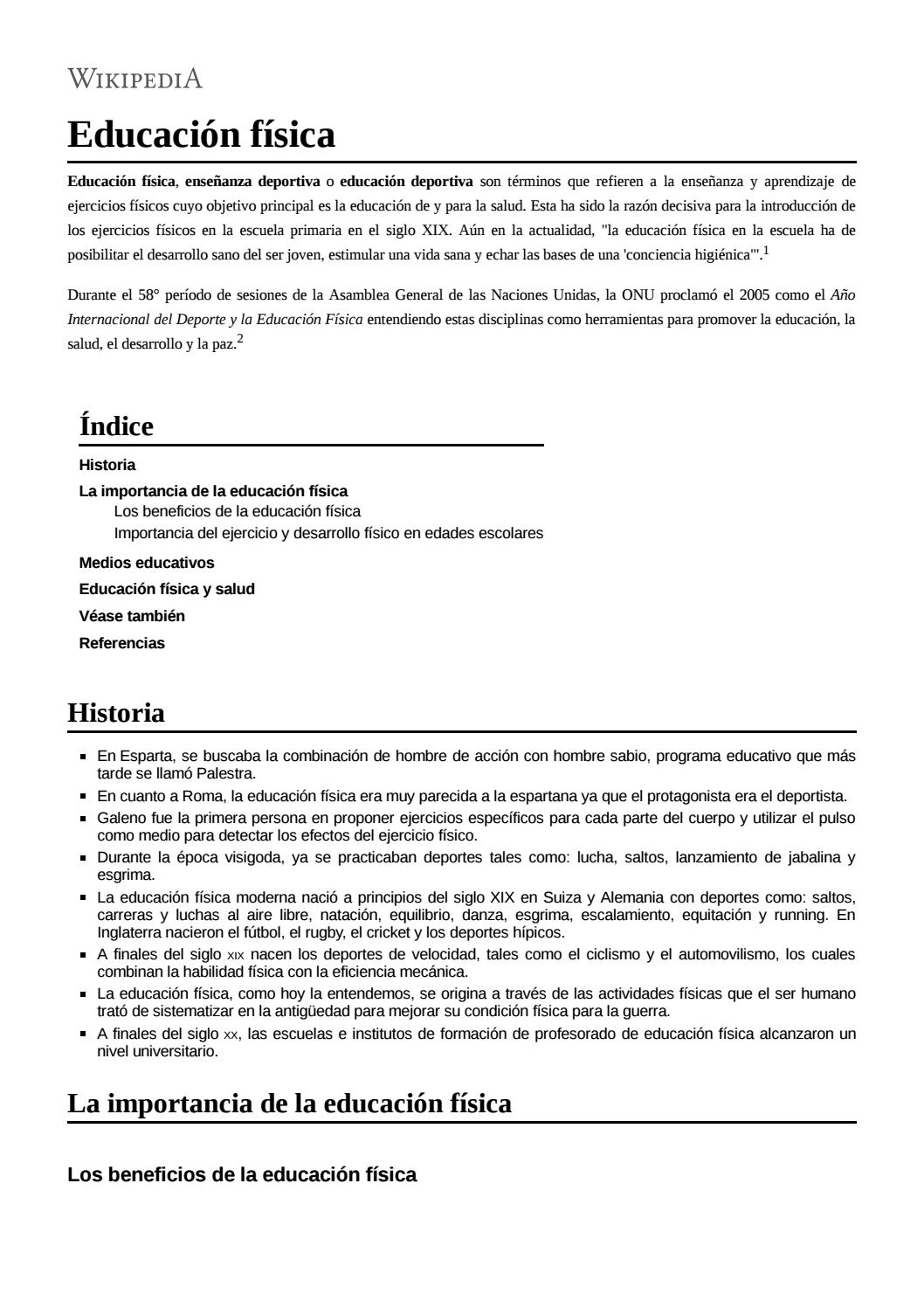 Historia De La Educación Física By Rodrigo ávila Rol Issuu