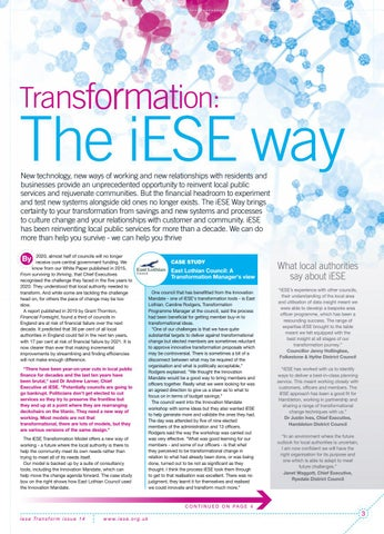 Page 3 of The iESE Way - testimonials