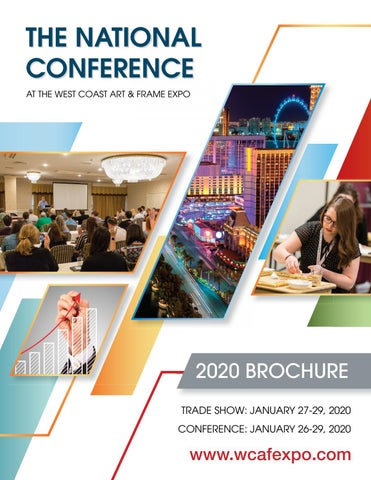 National Conference 2020 Brochure By Wcafexpo Issuu