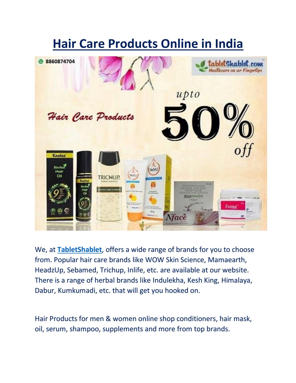 Hair Care Products Online In India By Preeti Issuu