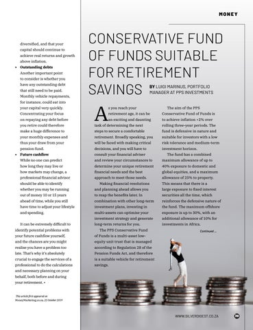 Page 39 of CONSERVATIVE FUND OF FUNDS SUITABLE FOR RETIREMENT SAVINGS