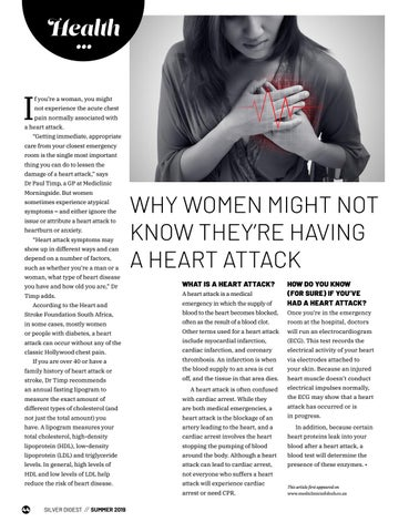 Page 44 of WHY WOMEN MIGHT NOT KNOW THEY'RE HAVING A HEART ATTACK