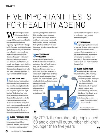 Page 46 of FIVE IMPORTANT TESTS FOR HEALTHY AGEING
