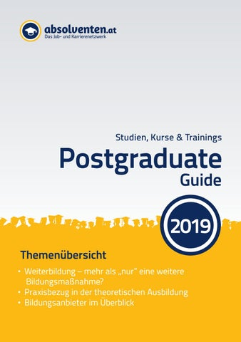 Postgraduate Guide 2019 By Absolventen At Issuu