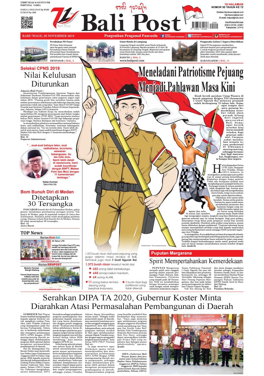 Edisi Rabu 20 Nopember 2019 Balipost Com By E Paper Kmb Issuu