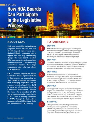 Page 10 of How HOA Boards Can Participate in the Legislative Process