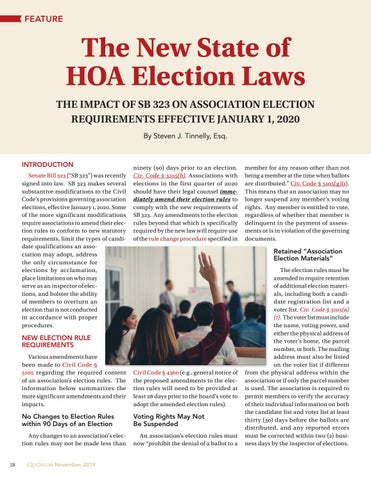 Page 28 of The New State of  HOA Election Laws By Steven J. Tinnelly, Esq.