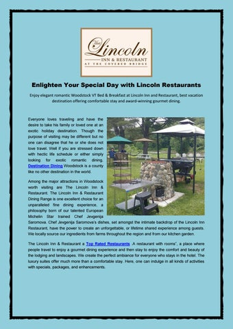 Enlighten Your Special Day With Lincoln