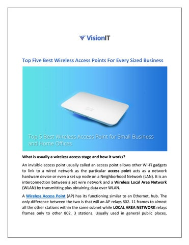 Top Five Best Wireless Access Points For Every Sized