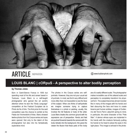 Page 14 of LOUIS BLANC | cORpuS - A perspective to alter bodily perception.