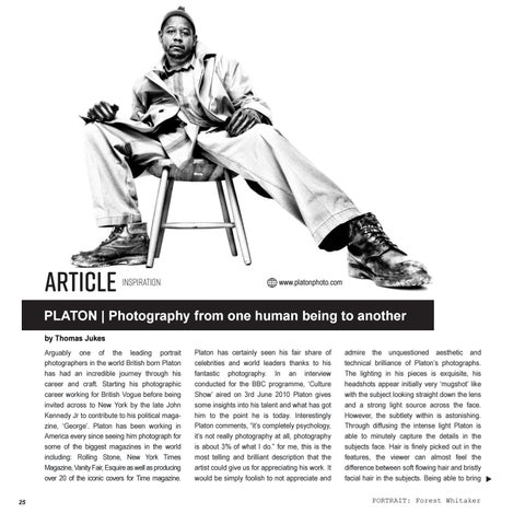 Page 26 of PLATON | Photography from one human being to another.