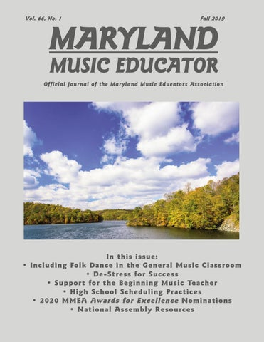 Official Start Of Fall 2020.Maryland Music Educator Fall 2019 By Mmeamarylandinfo Issuu