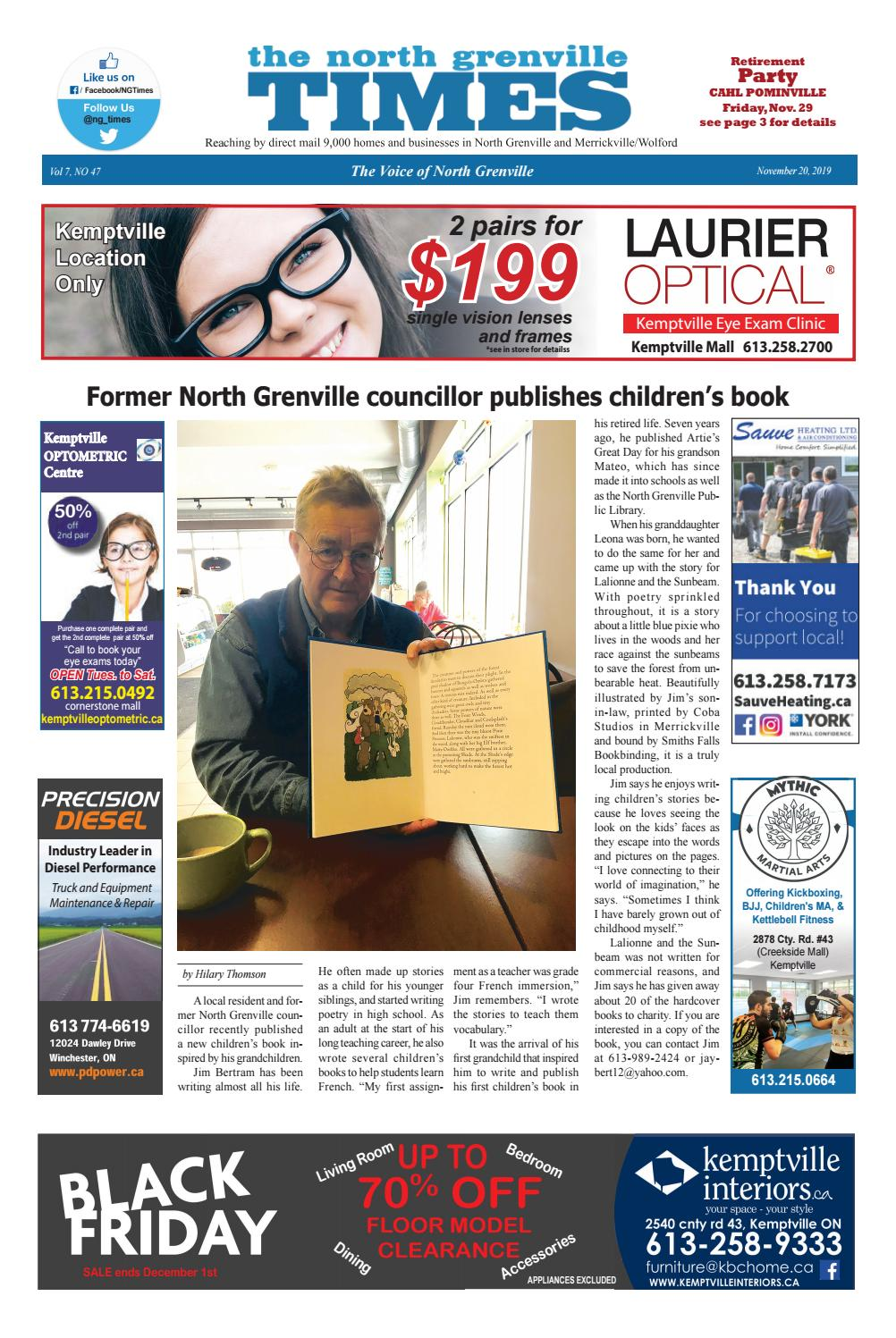 Issue 47 2019 November 20 Ng Times By The North Grenville