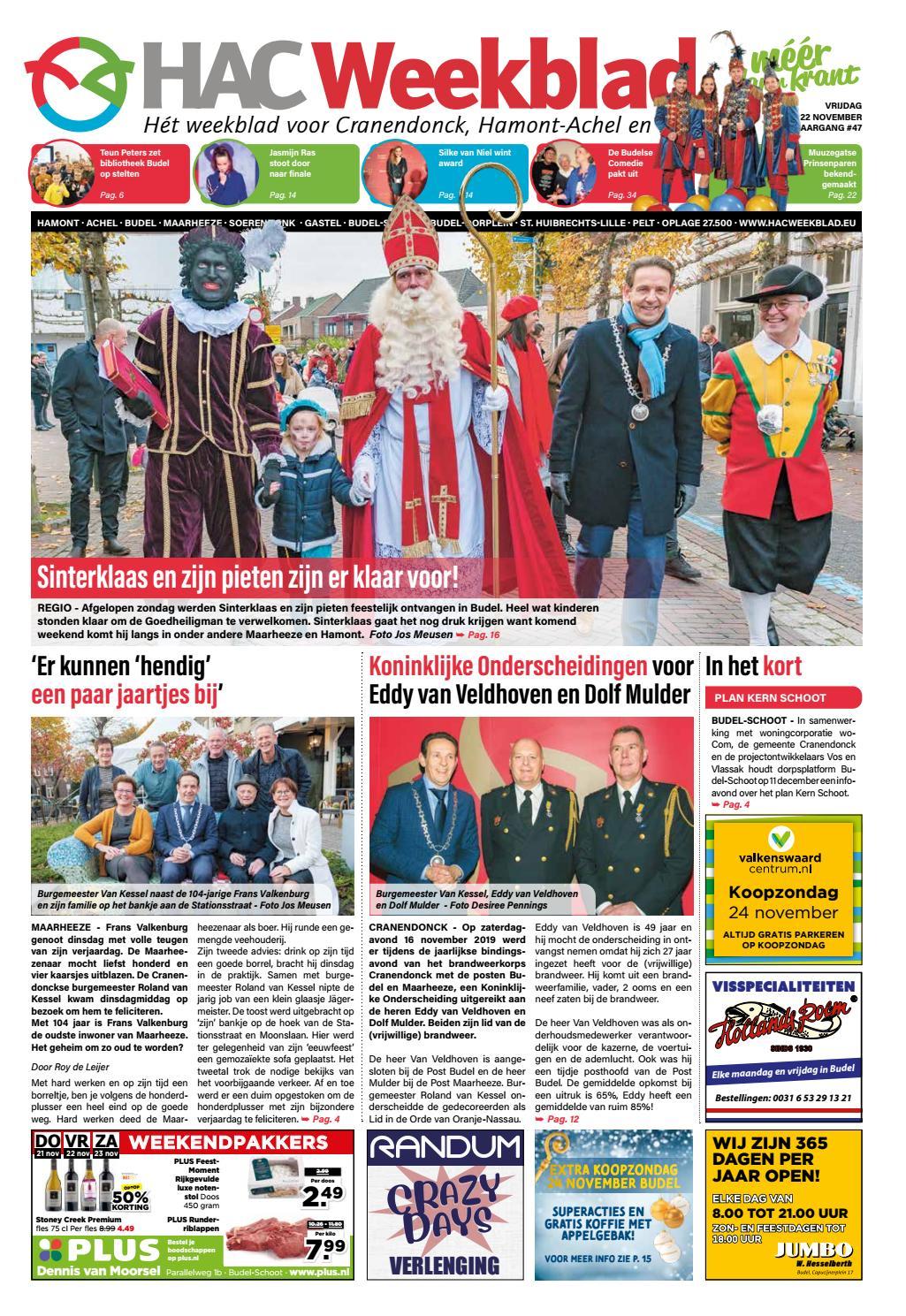 Hac Weekblad Week 47 2019 Nl By Hac Weekblad Issuu