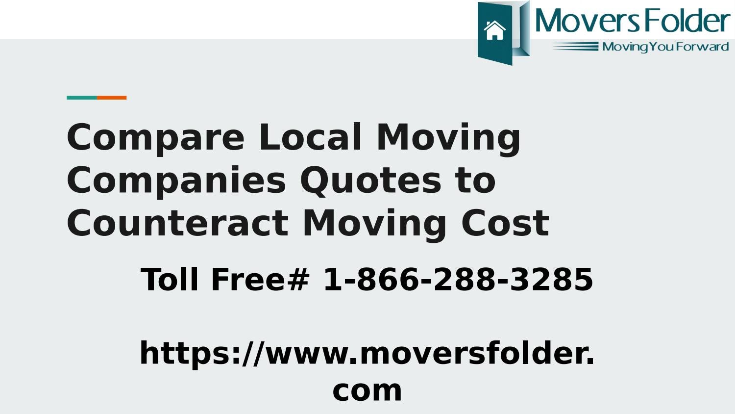Moving Company Quotes >> Compare Local Moving Companies Quotes To Counteract Moving
